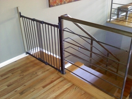 Awesome Plexiglass On Railing With Gate